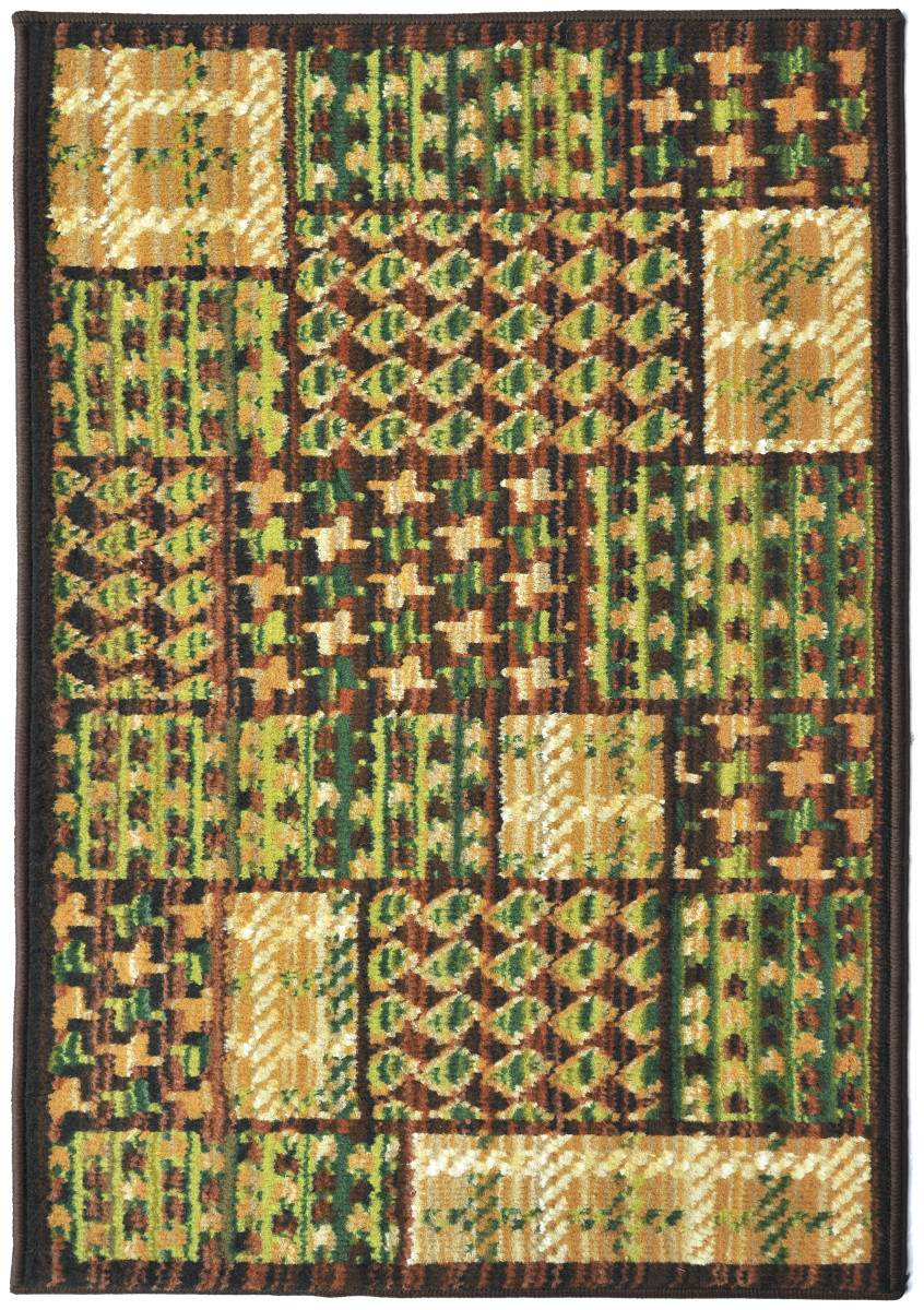 Covor Patchwork Moody Verde 67x120