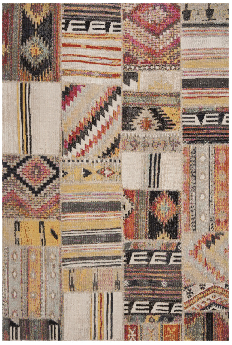 Covor Patchwork Leighton, Taupe/Multicolor, 121x182